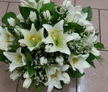 Kód: L028  obsah:  tulipány, lilie, zeleň