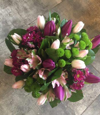 Kód: L043  obsah:  tulipán,alstromélie,santina, zeleň